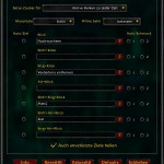 Healbot Optionen Zauber