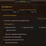 WoW Addon Rating Buster Optionen 1